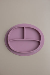 Silicone Suction Plate-Mauve