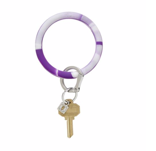 Deep Purple Marble Silicone, Big O Key Ring