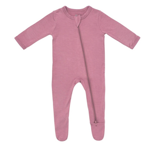 Kyte Baby Zippered Footie in Mulberry