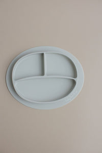 Silicone Suction Plate-Taupe