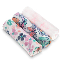 Load image into Gallery viewer, Aden & Anais 3-Pack Silky Soft Swaddle Set