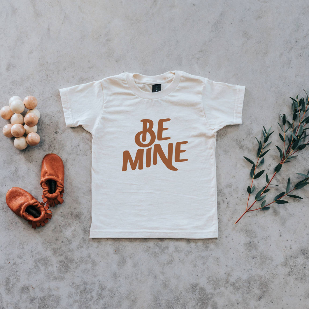 Be Mine Organic Baby & Kids Tee • Camel Ink