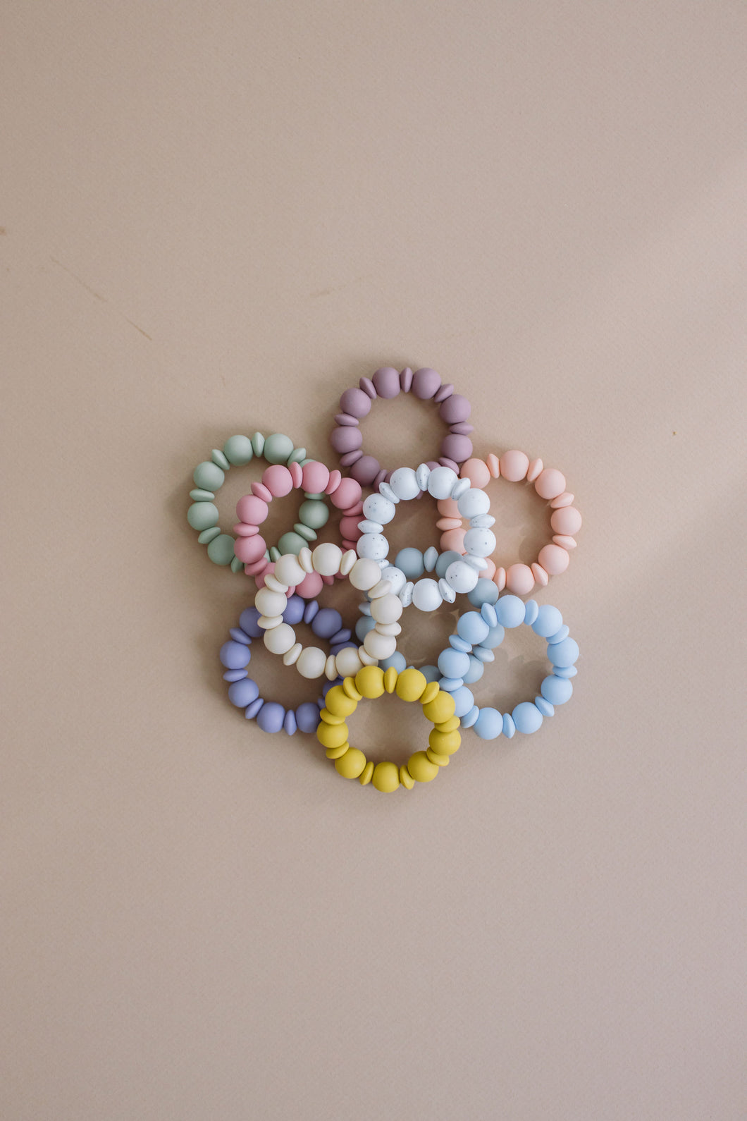 Adelia Silicone Teething Ring & Bracelet-Baby's Breath