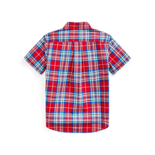 Load image into Gallery viewer, Polo Ralph Lauren Red Multi Natural Stretch Poplin SS