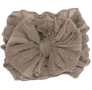 Ruffled Headband-Mocha