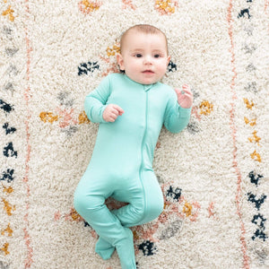 Kyte Baby Zippered Footie in Jade