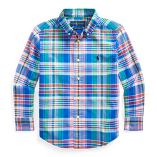 Load image into Gallery viewer, Polo Ralph Lauren Plaid Poplin LS-Royal Blue Multi