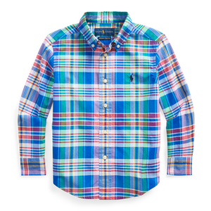 Polo Ralph Lauren Plaid Poplin LS-Royal Blue Multi
