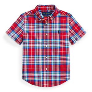 Polo Ralph Lauren Red Multi Natural Stretch Poplin SS