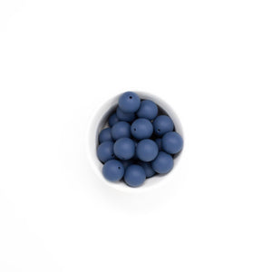 Abby Teething Rattle-Navy Blue