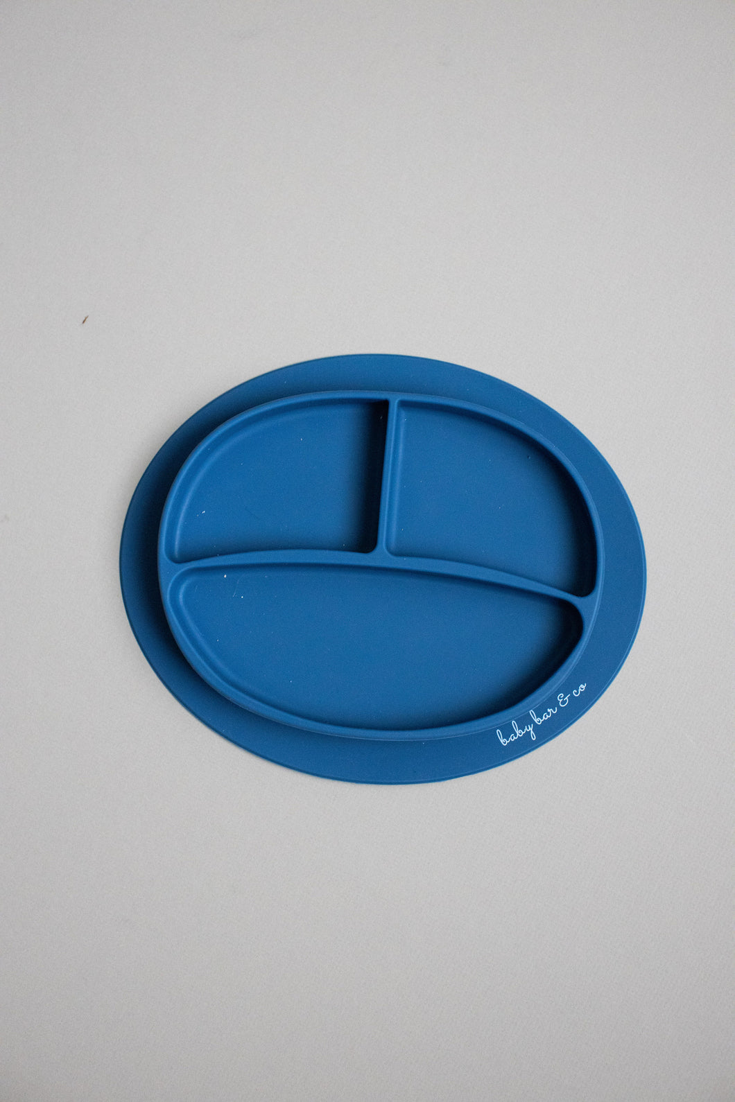 Silicone Suction Plate-Navy Blue