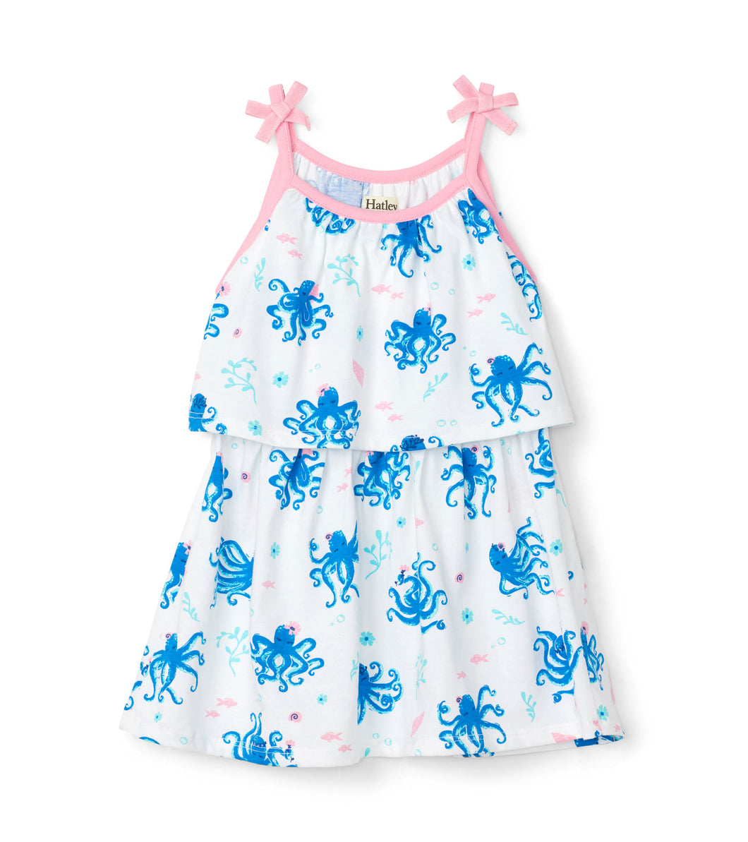 Hatley Pretty Octopuses Layered Dress