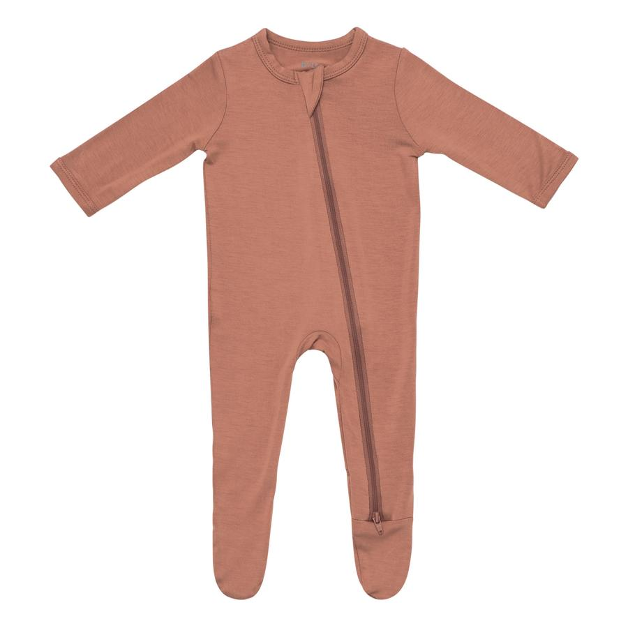 Kyte Baby Zippered Footie in Spice