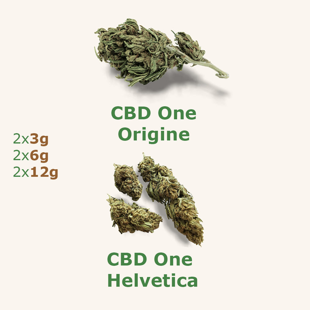 Duo Pack Starter : CBD One Origine + Helvetica - the-cbd-farmer