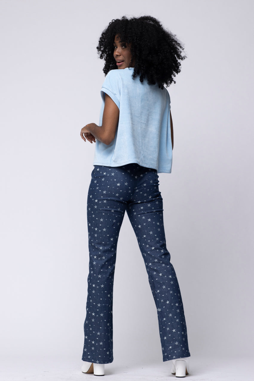 Pantalon Denim Etoilles