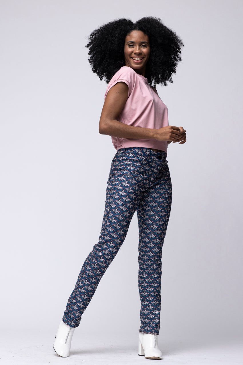 Pantalon City Reversible Api Lurex