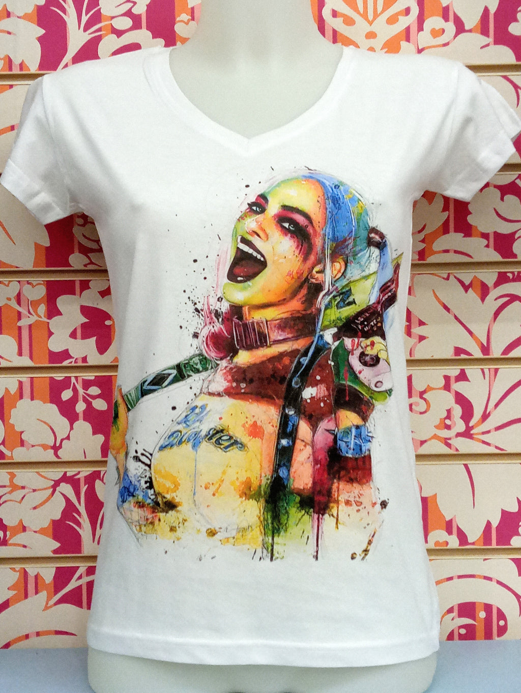 18-20-69 HARLEY QUINN - JHK TSRLCMFP  DONNA - STREET STYLE PRINT stampa personalizzata