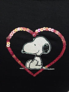 TS585TSW SNOOPY PAILETTES - TOONS T-SHIRT DONNA - STREET STYLE PRINT stampa personalizzata