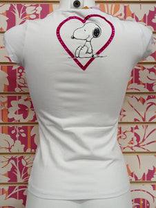 TS598TSW SNOOPY PAILETTES - TOONS T-SHIRT DONNA - STREET STYLE PRINT stampa personalizzata