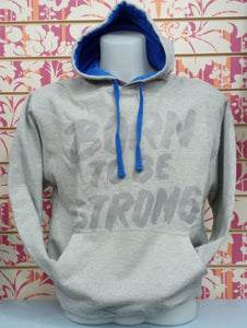 3252 BORN TO BE STRONG COL. GRIGIO MELANGE - Felpa UNISEX College - AWDis - STREET STYLE PRINT stampa personalizzata