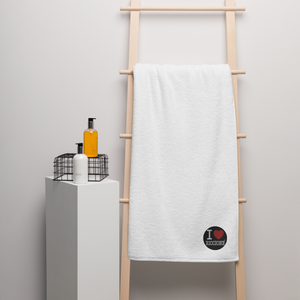 I LOVE RICCIONE Oversized Turkish cotton towel