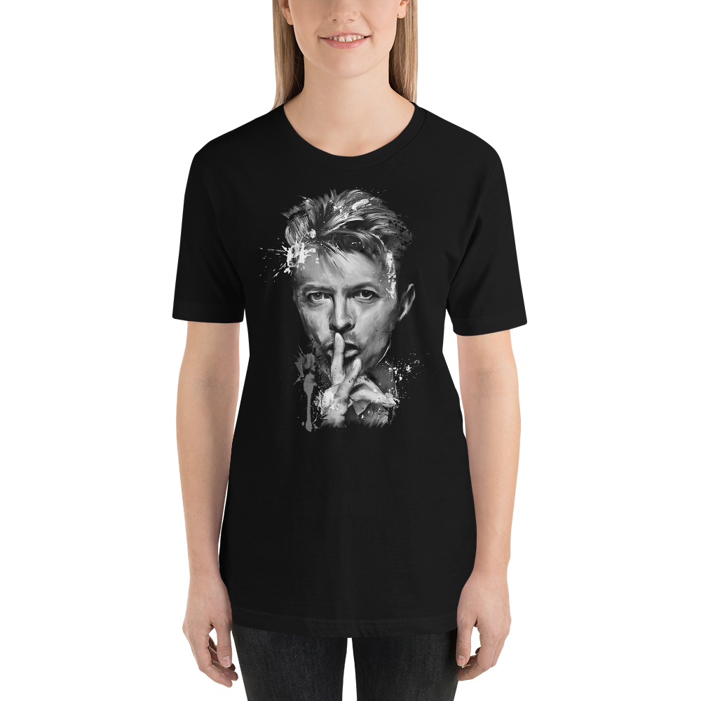 DAVID-BOWIA-TONO-GRIGIO 18-20-9-3  Short-Sleeve Unisex T-Shirt