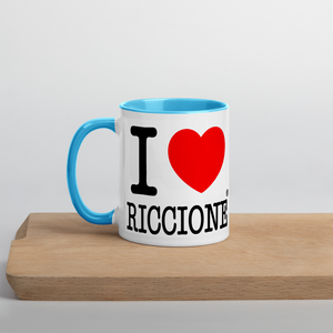 I LOVE RICCIONE Mug with Color Inside