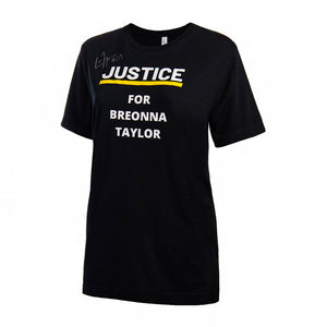 Player Autographed - JUSTICE FOR BREONNA TAYLOR Warm Up T-Shirt