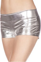 Load image into Gallery viewer, Music Legs Plus Size Metallic Stretch Tanga Shorts - Asst Colors