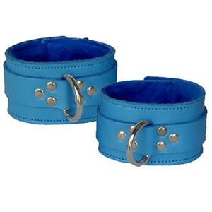 Leather Ankle Restraints With Fleece Lining
