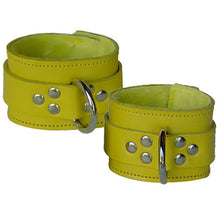 Load image into Gallery viewer, Leather Wrist Restraints With Fleece Lining