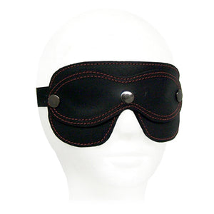 Leather Peek-A-Boo Blindfold