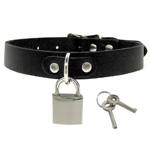 Leather Collar With Lock