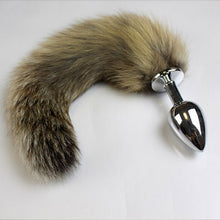 Load image into Gallery viewer, Fox Tail With Steel Plug - Assorted Colors