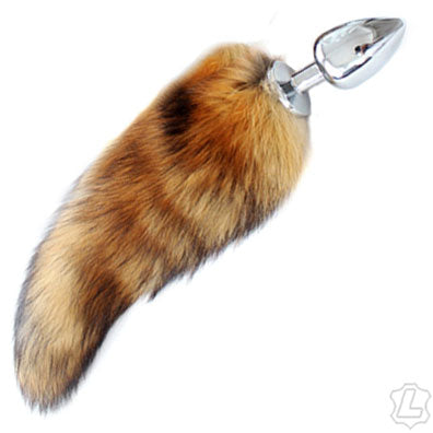 Fox Tail With Steel Plug - Assorted Colors