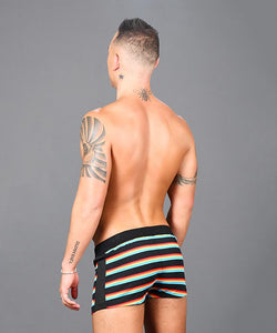 Andrew Christian - Rainbow Stripe Jogger Shorts