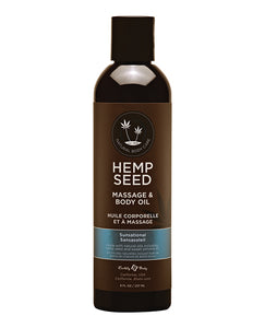 Earthly Body Hemp Seed Massage Oil - 2oz or 8oz - Asst Scents