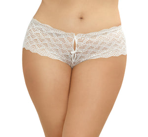 Dreamgirl Plus Size Heart Cutout Lace Panty