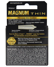 Load image into Gallery viewer, Trojan Magnum Thin Condoms - Box Of 3