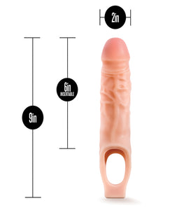 "Blush Performance 9"" Cock Sheath Penis Extender - Beige"