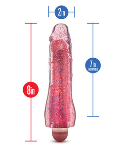 Blush Glow Dicks Glitter Vibrator Molly - Assorted Colors