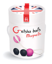 Load image into Gallery viewer, G-Vibe Magnetic Geisha Balls - Pink/Grey