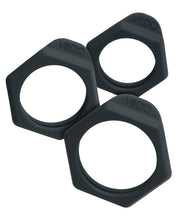 Load image into Gallery viewer, Vedo Bolt C Ring Set - Just Black Pack Of 3