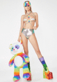 Load image into Gallery viewer, Rainbow Glitter Cloud Pasties