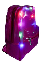 Load image into Gallery viewer, LED Light Up Backpack - Clear, Fucsia