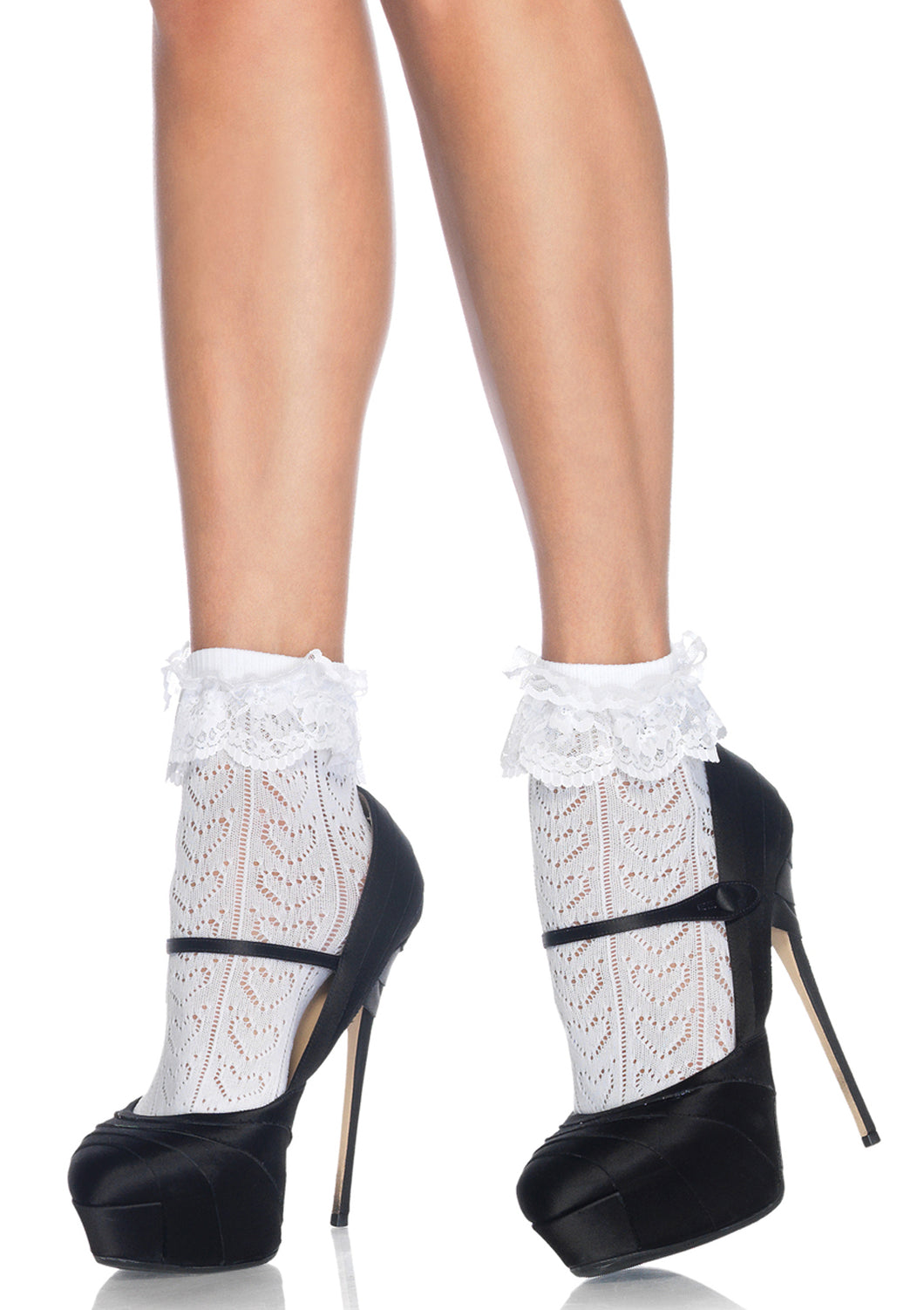 Leg Avenue Crochet Heart Anklet Socks