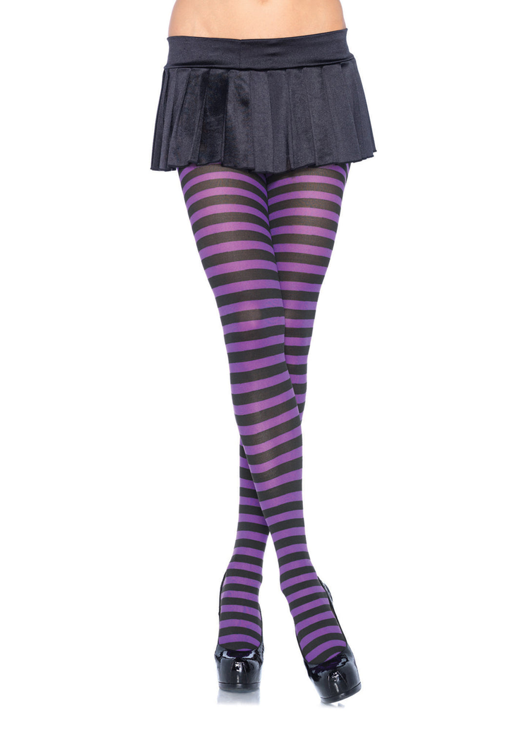 Leg Avenue Plus Size Striped Tights - Asst Colors