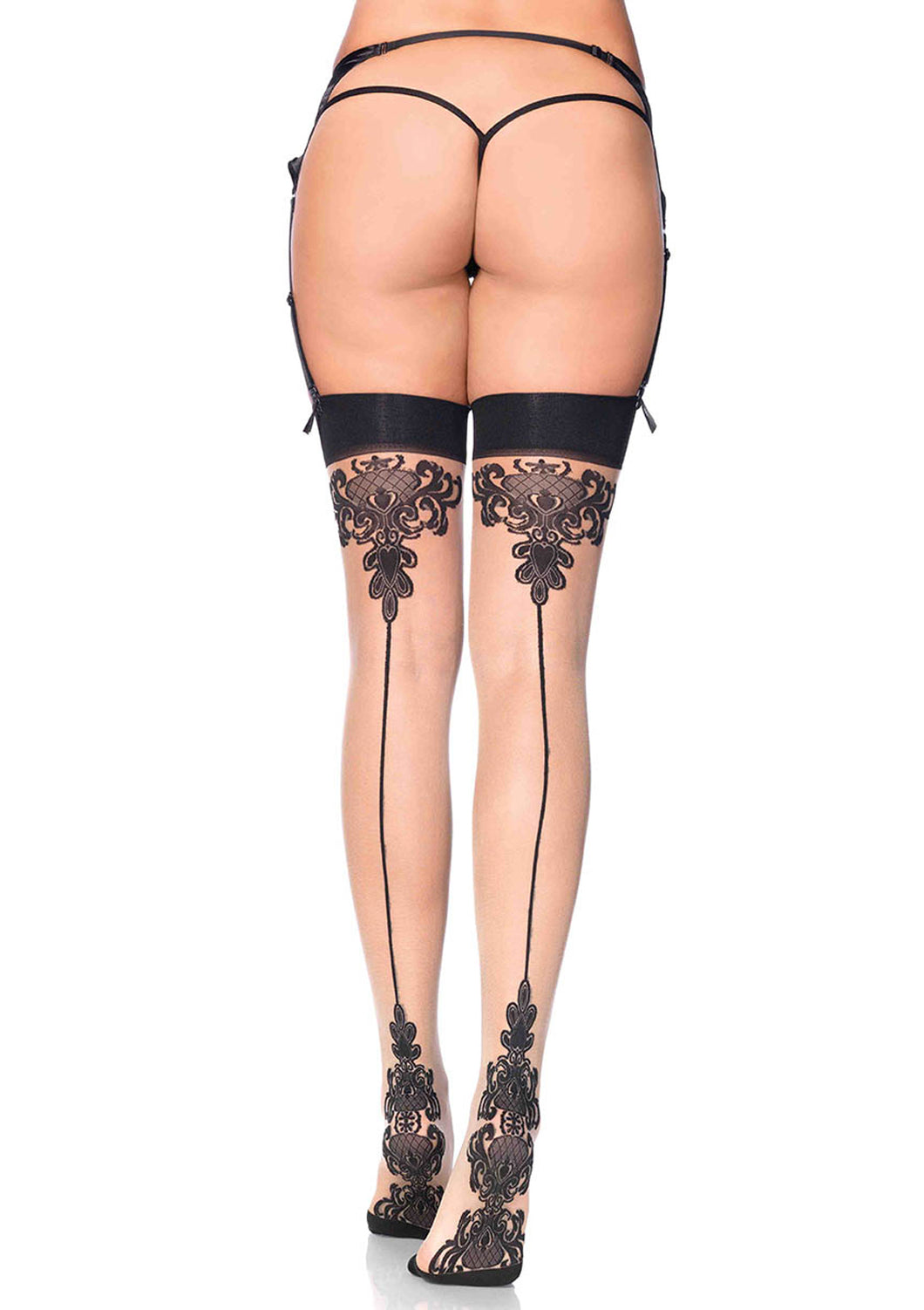 Leg Avenue Baroque Backseam Stocking
