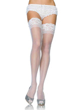 Load image into Gallery viewer, Leg Avenue Plus Size Stay Up Sheer Thigh Highs - Asst Colors