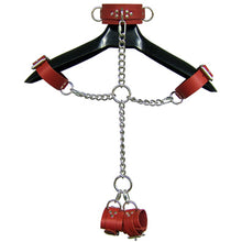 Load image into Gallery viewer, Leather And Shiny Chain Shackle Set